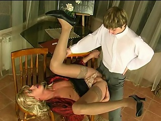 Steamy sissy guy fingering his asshole before mind-blowing anal...
