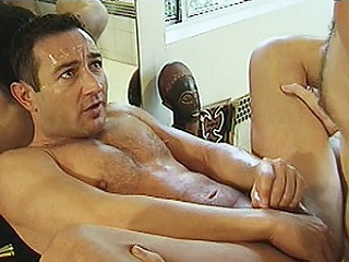 Two hard bodied gay bears Michael Vista and Lee Casey were hired to...