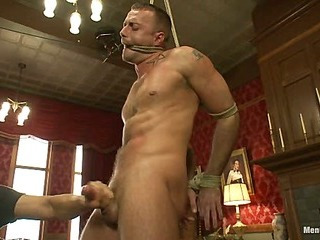 Porn superstar Jessie Colter gets bound, gagged and edged till such time as he begs to cum.