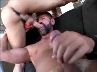 Gay bear group sex with anal and facial