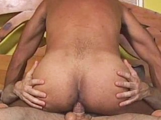 Bearded scrounger Andrew Adams licks anal