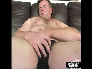 Mature guy loves to play at hand his cock