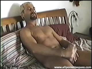 Goatee toff jerks off and sucks cock