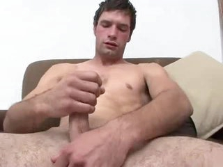 Sexy young guy masturbates and cums