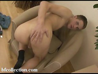 Hot boy shows us his ass and his hard cock