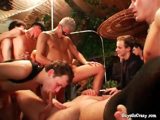 Asses fucked with the addition of cocks stroked more big orgy