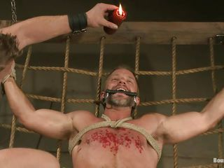 Dirk Caber is about to learn a lot about pleasure and pain as his executor pours hot wax on his chest after sucking his steadfast succulent penis with lust. His cock and balls are tied steadfast and he can't vendetta because he's wings and legs are tied real hard. What kinds of punishment mettle he endure next?