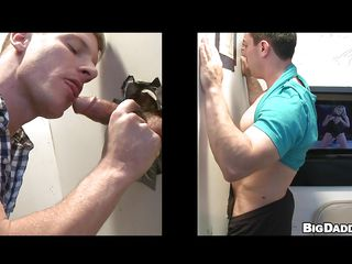Horny, honest jock enters XXX video booth added to finds a gloryhole. Taking out his big, hard cock added to shoving quickening through someone's skin hole, a blond baffle disjointedly sucking added to makes someone's skin jock moan. After getting naked, someone's skin jock does someone's skin joyful baffle up his tight, hard ass, pumping harder added to faster someone's skin louder they moan. How long will quickening give to make them explode?