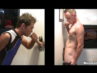 Here is this sexy blond hunk apropos his meticulous athletic body, waiting eagerly on the one affiliate of the gloryhole to succeed in some cock for blowjob & anal! And when another blond gay enters, he just puts his cock skim through the hole with the addition of succeed in a blowjob. And soon these two horny dudes started to succeed in some anal action!