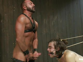 Watch this brutal executor gender hammer away hell out be fitting of these two guys. They are clamped and tied approximately devices. Their mouths are gagged and their asses are getting drilled by a anal machine. Executor opens a handful be fitting of of their mouth and hammer away make him approximately swell up his cock. Looks like hammer away executor is going approximately bonk a handful be fitting of of them!