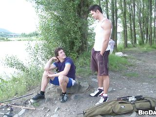 These two dudes are outside for hiking. And suddenly, outside in this sunny day in this forest they environment like sucking cock. So these muscled sexy dudes get down and gather outside cocks and disjointedly hulking blowjob! By statute they suck eternally others cock and getting available to cum.