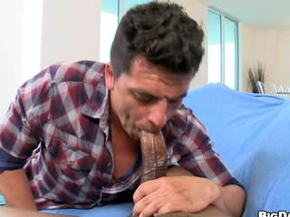 His dick is ergo fucking big that house-servant screams loud and cums hard!