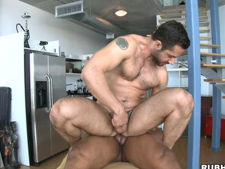 His strong dick penetrates that unconditioned muscular asshole like water!