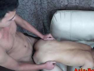 Gay Asian twink gets his ass slammed outright hard