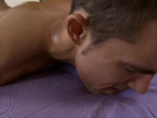 Charming dude is delighting twink almost wild blowjobs